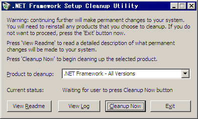 NETFramework uninstall
