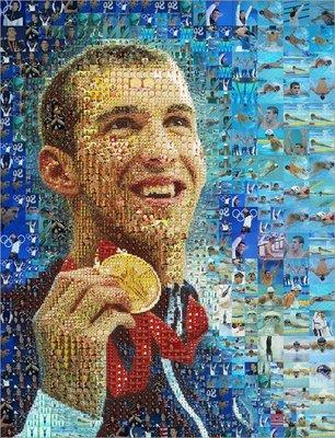 モザイクイラスト Charis Tsevis Mosaic Image Michael Phelps.jpg