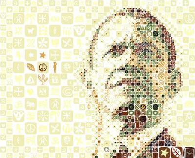 モザイクイラスト Charis Tsevis Barack Obama Mosaic Image 3