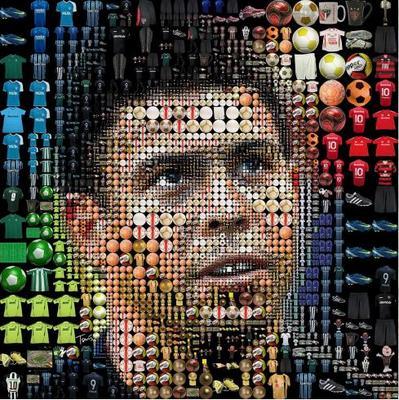 モザイクイラスト Charis Tsevis Mosaic Image Soccer