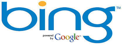 Bing logo powered by Google