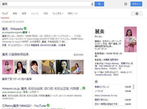 Google アーティスト名検索結果 1