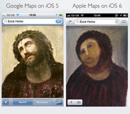 iOS5とiOS6の地図比較 1