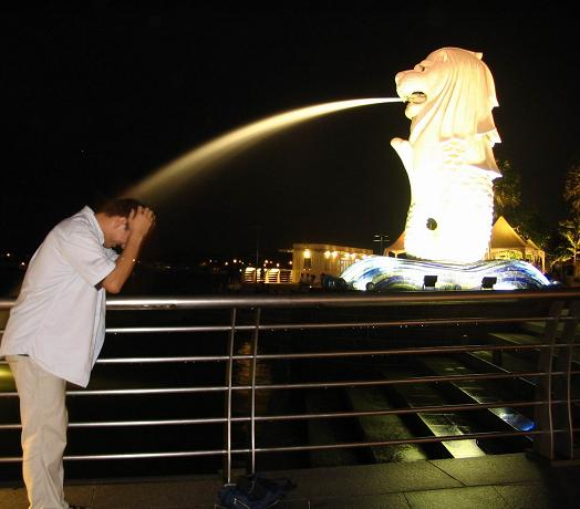 shower by Singapore Merlion